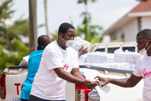 Menaye Donkor Muntari, CEO Of Sincerely Ghana Ltd. Donates 2000 Sanitary Pads To Vulnerable Women